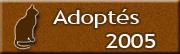 CHATS Adoptés en 2005