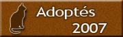 CHATS Adoptés en 2007