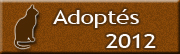 CHATS Adoptés en 2012