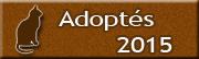 CHATS Adoptés en 2015